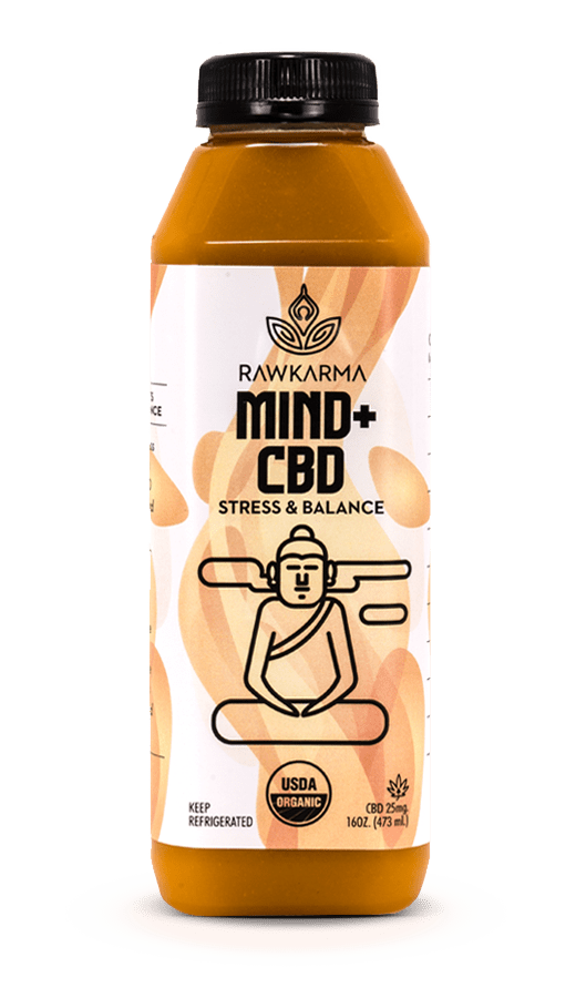 MIND + CBD for Stress and Balance 100% Organic Juice