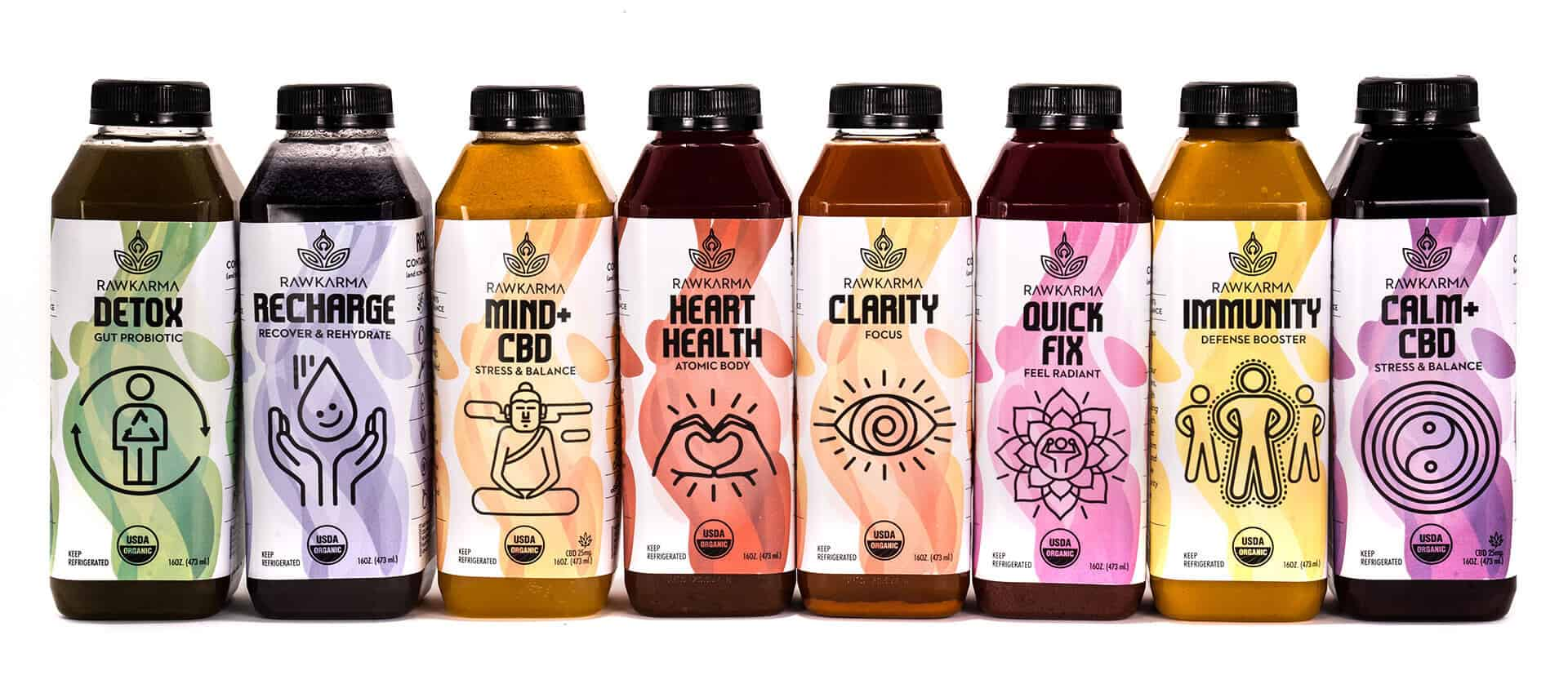 RawKarma Juice 100% Organic Non-GMO Healthy Juices