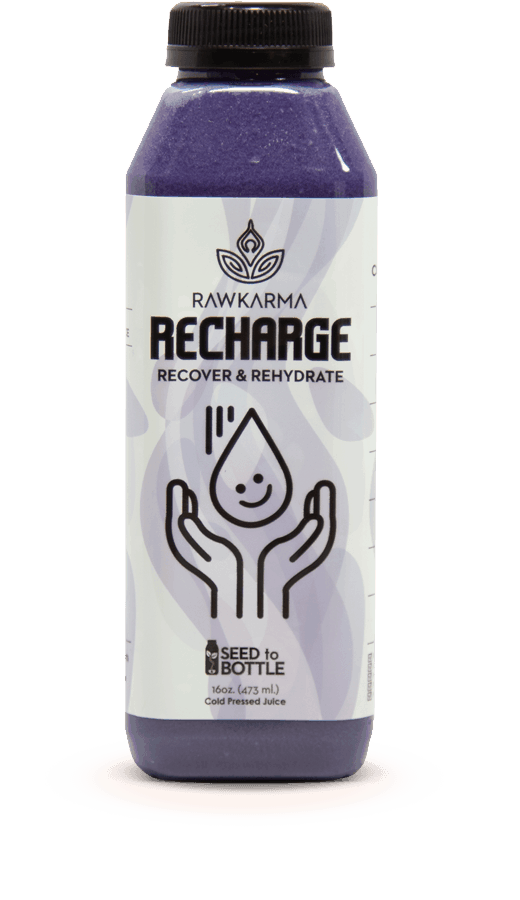 Recharge Recover and Rehydrate 100% Organic Juice